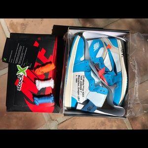 Nike Air Jordan Retro 1 Off-White UNC